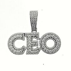 14K Gold Plated 925 Sterling Silver Iced #x27;CEO#x27; Hip Hop Rapper Pendant For Men $47.39
