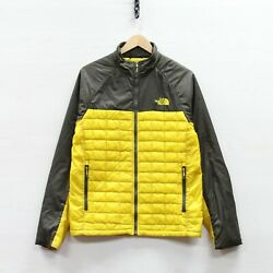 The North Face Thermoball Puffer Jacket Size Small Black Yellow Insulated $71.99