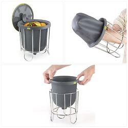 Polder Kitchen Composter Flexible silicone bucket inverts for emptying $42.15