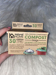 NATURAL HOME BRANDS 30 Pack Compost Bags for 1 1.3 amp; 1.8 Gallons $9.00