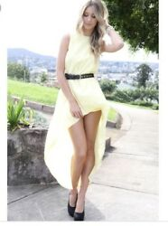 SABO SKIRT High Low Butter Yellow Dress Womens Size 8 $23.97