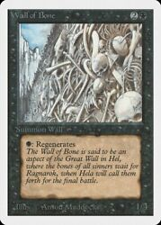 Wall of Bone Unlimited NM Black Uncommon MAGIC THE GATHERING CARD ABUGames $5.49