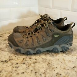 Oboz Trail Hiking Sneakers Shoes Mens 12 Low Top Lace Up Leather Mesh Brown $45.00