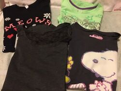 Girls Large 10 12 Shirts Lot Of 4 2 New With Tags And 2 Used $14.00