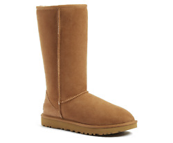 NEW UGG W Classic Tall II Chestnut amp; Black 100% AUTHENTIC $139.99