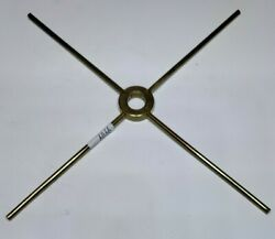 1 4 way Steel Brass Plated Spider for Stained Glass Lamp Construction $3.50