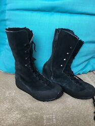 Rockport Womens Boots Black Suede Lace Up Size 11M $30.00