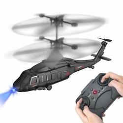 Remote Control Helicopter RC Army Heli Toy with Gyro amp; Led for Kids Boys Girls A $29.36