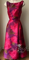 Adrianna Papell Jacquard Tea Length Fit amp; Flare Dress NWT Sz 10 12