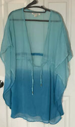 BEACH by EXIST Womens Cover Up Tunic Kimono Sleeve Drawstring Size S M $8.99