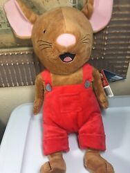 Kohls Cares If You Give A Mouse A Cookie Plush Stuffed Animal 14quot; Red Overalls $44.00