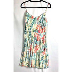 Old Navy Women's Green and Orange Coral sea Print Summer Dress Size XLarge $18.00