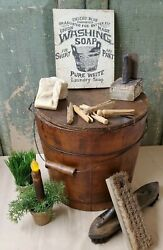 PRIMITIVE VICTORIAN VINTAGE STYLE ADVERTISING WASH LAUNDRY UNION MADE SOAP SIGN $14.50