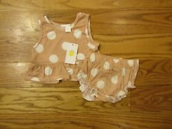 Little Sun Girls 2 Piece Summer Outfit 12 Months Tank Bloomers Shorts Set $14.00