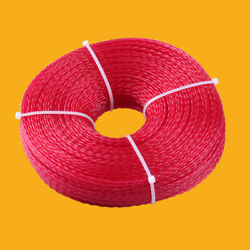 1lb .080 Round Red Commercial String Trimmer Line Twist 472ft weed trimming