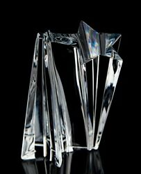 Baccarat Crystal Shooting Star Large Trophy 8.5quot; Decorative Sculpture France $420.75
