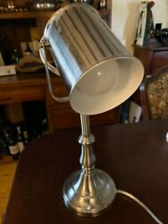 Small desk lamp silver color perfect for reading excellent condition $15.00