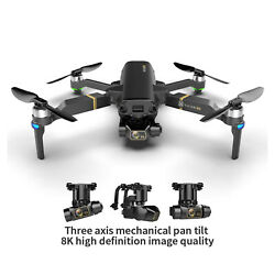 Foldable KAI ONE Pro Drone 3 Axis Gimbal Dual Camera Quadcopter Live Video $184.98