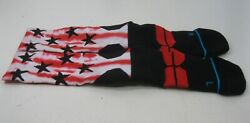 NEW STANCE BLACK RED STAR Socks MEN Size L *** $15.11