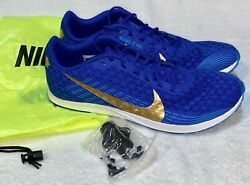 NIKE Rival XC Royal Blue Gold Cross Country Spikes Shoes Mens Sz 4.5 7 9 11.5 12 $57.87