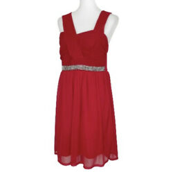 Torrid Red Dress Womens Size 14 Sleeveless Cocktail Party Chiffon $31.04