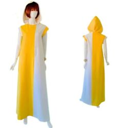 Vtg 60's 70's Coloblock Hooded Beach Cover Caftan Dress By Alex Coleman $179.00