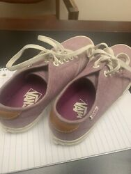 Vans Off The Wall Women#x27;s Sneakers Shoes Purple Lavender Size 6.5 $25.00