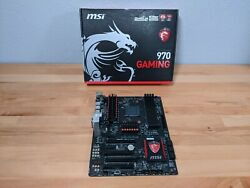 *For Parts Broken PCIe Clip* MSI 970 GAMING AM3 AMD Motherboard $7.00