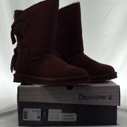 Bearpaw Womens Willow Winter Boots Brown Round Toe Mid Calf Lace Up 8 M EUR 39 $27.96