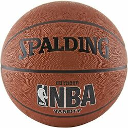 Spalding NBA Varsity Rubber Outdoor Basketball Official Size 7 29.5quot; $17.95