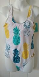 IFFEI Swimsuit Pineapple One Piece Bathing Women L NWT $20.00