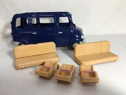 Calico Critters sylvanian Families Blue Seven Seater Van With Baby Seats $18.00