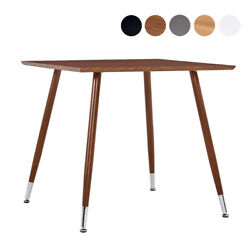 Dining Table Room Office Desk Home Furniture Square Metal MDF Kitchen Breakfast $136.02