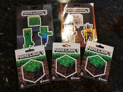 Minecraft Stickers on individual sheets Lot of 5 $5.00