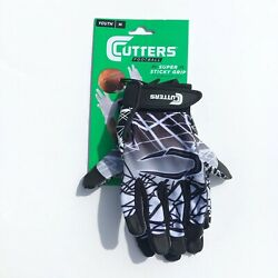 Cutters Football Gloves Youth M Medium Game Day Receiver Super Sticky Grip NWT $18.99