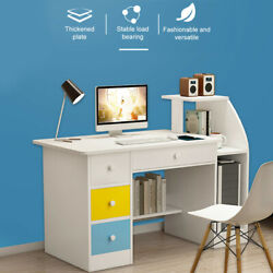 Simpleness Laptop Computer Desk With Drawer Shelf Office Home Modern Small Desk $28.78
