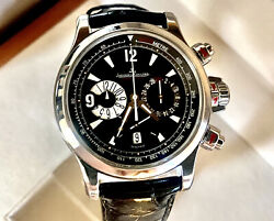 JAEGER LECOULTRE MASTER COMPRESSOR CHRONOGRAPH S STEEL 41.5mm BOX PAPERS MINT $6350.00