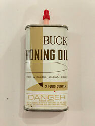Buck Honing Oil Antique Nearly Full 3 Fl Oz Can For A Quick Clean Edge $19.99