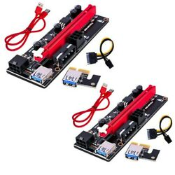 2PACK PCI E 1x to 16x Powered USB3.0 GPU Riser Extender Adapter Card VER 009s US $15.90