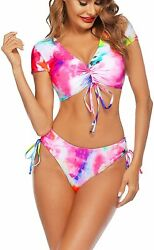 Avidlove Bikinis for Women Bathing Suits Floral Bikini Set Two Piece Strap Swims $57.77