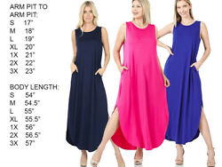 WOMENS SLEEVELESS SOFT RELAXED FIT LONG CASUAL MAXI DRESS $21.00