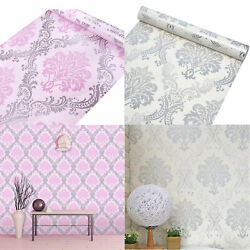 Damask Wallpaper Wall Stickers Self Adhesive Contact Paper Bedroom Living Room $29.69