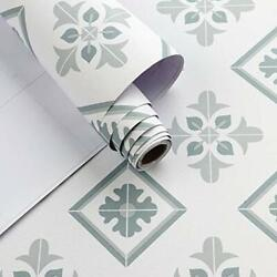 Tile Contact Paper Blue Gray Peel and Stick Wallpaper Self Adhesive Removable $34.00