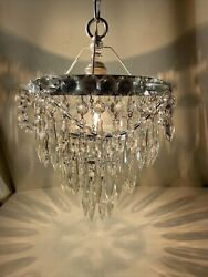 Vintage Crystal Petite Chandelier And Spikes $235.00