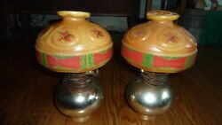 BUDWEISER HURRICANE LAMP STYLE WALL SCONCE PAIR VINTAGE BEER SIGN NON MOTION $80.00