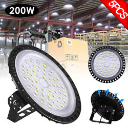 5X 200W UFO LED High Bay Light Factory Warehouse Industrial Commercial Lighting