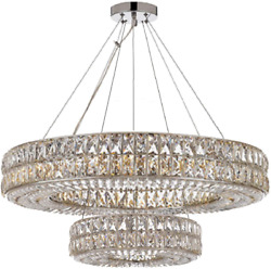 Crystal Nimbus Ring Chandelier Modern Contemporary Lighting Pendant 40quot; Wide F $1664.99