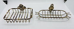 Antique vtg wall mounted Wire soap dish grille holder amp; Toothbrush Holder $75.00