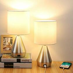 Touch Control Table Lamp 3 Way Dimmable Bedside Desk Lamps with USB Port Retr... $60.89