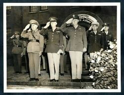 BRAZILIAN MAJOR GEN EURICO GASPAR DUTRA HONORED BY THE 4th ARMY 1943 Photo Y 129 $14.99